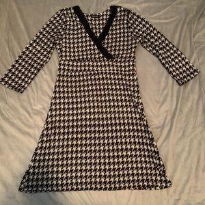 Reborn Black White Houndstooth Dress EUC Size XL